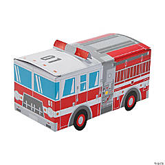 Fire Truck Favor Boxes