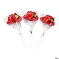 Firefighter Party Hat-Shaped Suckers