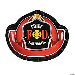 Firefighter Party Paper Dessert Plates - 8 Ct.