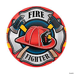 Firefighter Party Paper Dinner Plates - 8 Ct.