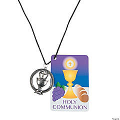 First Communion Necklaces with Card