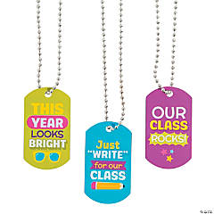 First Day of School Dog Tag Necklaces