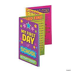 First Day of School Fold-Up Activity Sheets