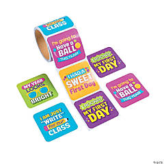 First Day of School Jumbo Roll Stickers