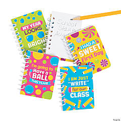 First Day of School Mini Spiral Notebooks