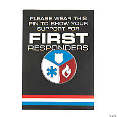 First Responder Pins with Card
