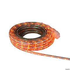 FITCO - Orange LED Christmas Outdoor Linear Tape Lighting -30 ft Clear Tube