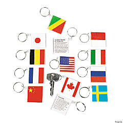 Flags Around the World Keychains