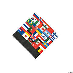 Flags of All Nations Beverage Napkins
