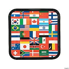 Flags of All Nations Paper Dinner Plates - 8 Ct.