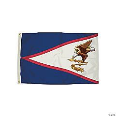 FlagZone Durawavez Nylon Outdoor Flag with Heading & Grommets, American Samoa, 3' x 5'