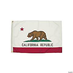 FlagZone Durawavez Nylon Outdoor Flag with Heading & Grommets, California, 3' x 5'