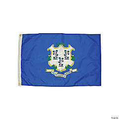 FlagZone Durawavez Nylon Outdoor Flag with Heading & Grommets - Connecticut, 3' x 5'