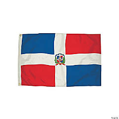 FlagZone Durawavez Nylon Outdoor Flag with Heading & Grommets - Dominican Republic, 3' x 5'