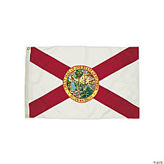 FlagZone Durawavez Nylon Outdoor Flag with Heading & Grommets - Florida, 3' x 5'