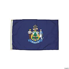 FlagZone Durawavez Nylon Outdoor Flag with Heading & Grommets, Maine, 3' x 5'