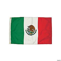 FlagZone Durawavez Nylon Outdoor Flag with Heading & Grommets, Mexico, 3' x 5'