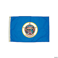 FlagZone Durawavez Nylon Outdoor Flag with Heading & Grommets - Minnesota, 3' x 5'