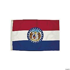 FlagZone Durawavez Nylon Outdoor Flag with Heading & Grommets - Missouri, 3' x 5'