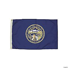 FlagZone Durawavez Nylon Outdoor Flag with Heading & Grommets - Nebraska, 3' x 5'