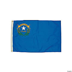 FlagZone Durawavez Nylon Outdoor Flag with Heading & Grommets - Nevada, 3' x 5'