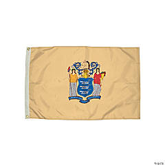FlagZone Durawavez Nylon Outdoor Flag with Heading & Grommets, New Jersey, 3' x 5'