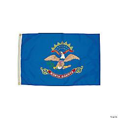 FlagZone Durawavez Nylon Outdoor Flag with Heading & Grommets, North Dakota, 3' x 5'