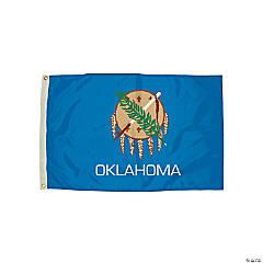 FlagZone Durawavez Nylon Outdoor Flag with Heading & Grommets - Oklahoma, 3' x 5'