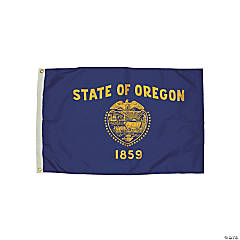 FlagZone Durawavez Nylon Outdoor Flag with Heading & Grommets, Oregon, 3' x 5'