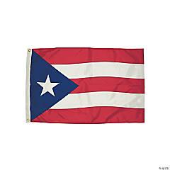 FlagZone Durawavez Nylon Outdoor Flag with Heading & Grommets, Puerto Rico, 3' x 5'