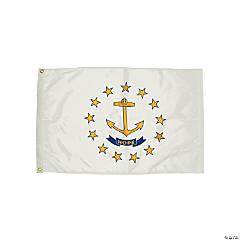 FlagZone Durawavez Nylon Outdoor Flag with Heading & Grommets, Rhode Island, 3' x 5'