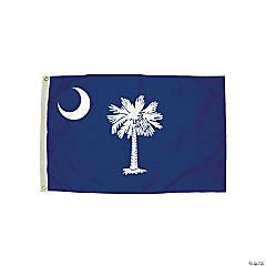 FlagZone Durawavez Nylon Outdoor Flag with Heading & Grommets, South Carolina, 3' x 5'