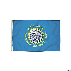 FlagZone Durawavez Nylon Outdoor Flag with Heading & Grommets, South Dakota, 3' x 5'