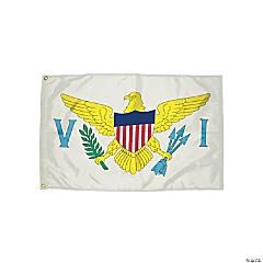 FlagZone Durawavez Nylon Outdoor Flag with Heading & Grommets, US Virgin Island, 3' x 5'