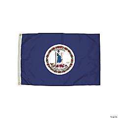 FlagZone Durawavez Nylon Outdoor Flag with Heading & Grommets, Virginia, 3' x 5'