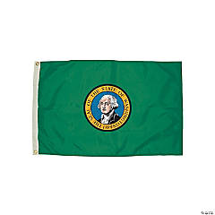 FlagZone Durawavez Nylon Outdoor Flag with Heading & Grommets - Washington, 3' x 5'