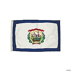 FlagZone Durawavez Nylon Outdoor Flag with Heading & Grommets - West Virginia, 3' x 5'