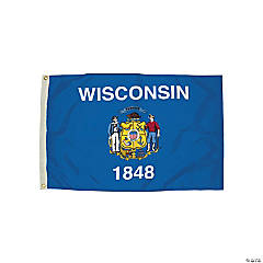 FlagZone Durawavez Nylon Outdoor Flag with Heading & Grommets - Wisconsin, 3' x 5'