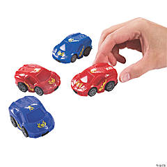 Flaming Heart Pull-Back Cars