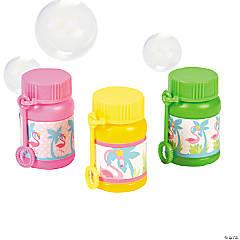 Flamingo Mini Bubble Bottles