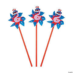 Flamingo Patriotic Pinwheels - 36 Pc.
