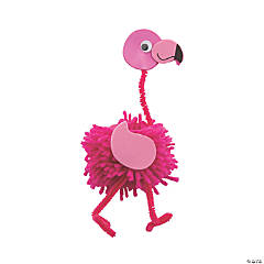 Flamingo Pom-Pom Craft Kit