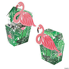 Flamingo-Shaped Treat Boxes