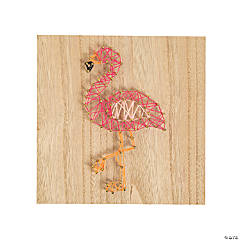 Flamingo String Art Craft
