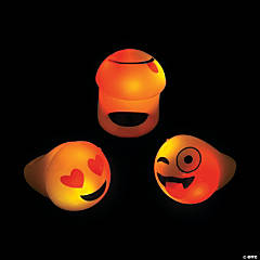 Flashing Emoji Light-Up Rings