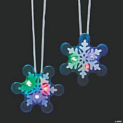 Flashing Winter Snowflake Necklaces