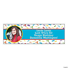 Flashy Stache Party Photo Custom Banner - Small
