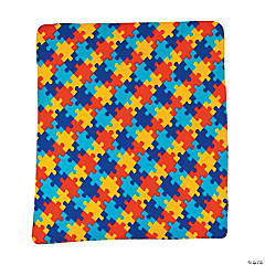 Fleece Autism Awareness Throw