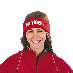 Fleece Personalized Red Headbands