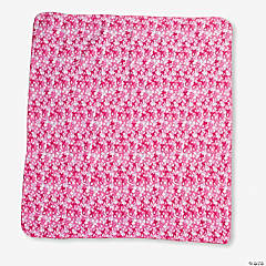 Fleece Pink Camouflage Throw